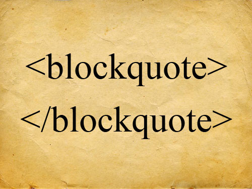 Duplicate Content Analyzed: What about Block Quotes?